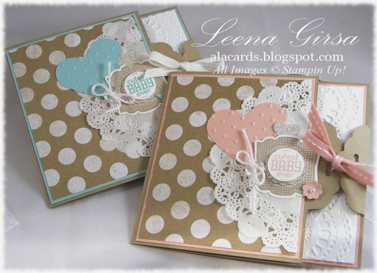A La Cards: His and hers baby cards