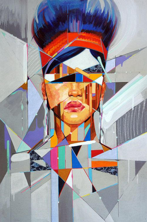 Artist painter Samuel Rodriguez fragments