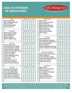 NACHOrganiza | Listas De Revisión – Checklist | http://nachorganiza.com  #organizacion