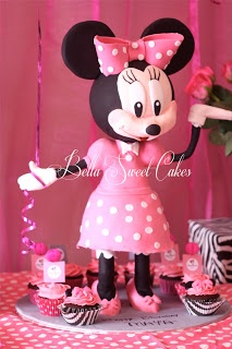 Minnie Mouse cake   Bellasweetcakes: My Minnie Mouse cake