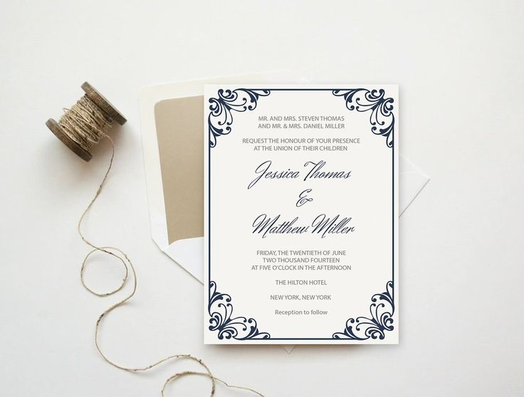11 best wedding invitations images on pinterest wedding invitation this printable navy flourish wedding invitation design is the perfect way to announce your exciting day which is perfect for any special wedding stopboris Choice Image