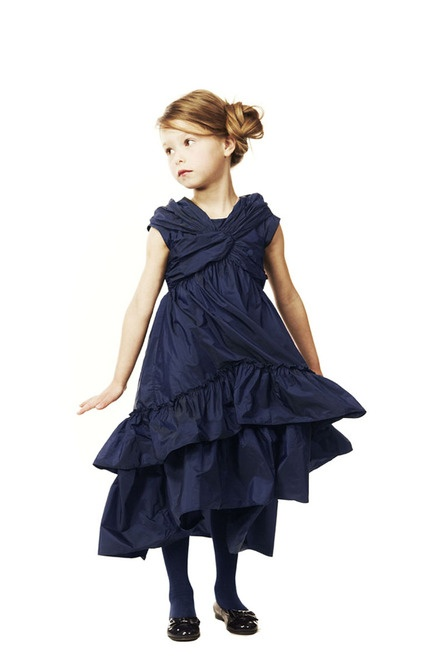 Junior Gaultier Taft Midnight Blue Abendkleid | Melijoe.com   – jumarcla