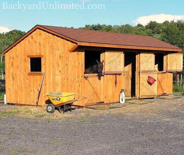 14 best images about horse barns sheds on pinterest for 2 stall horse barn