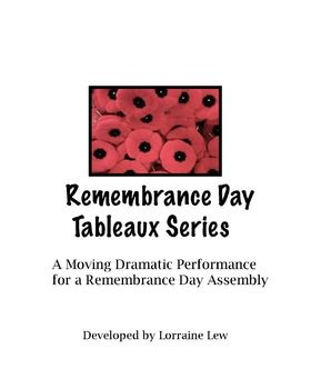 """Looking for something more creative for your Remembrance Day Assembly? This tableaux series is just the thing! As a Drama Club teacher I created a series of 5 different """"snapshots"""" or tableaux of the purpose and meaning of Remembrance Day performed by the students and it was a very moving performance."""
