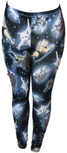 $15.79 - $19.45 | Space Kitten Women's Leggings | 5 of The Most Awesome Must Have Psychedelic Cat T-Shirts | http://mycatcentral.com/psychedelic-cat-t-shirts/