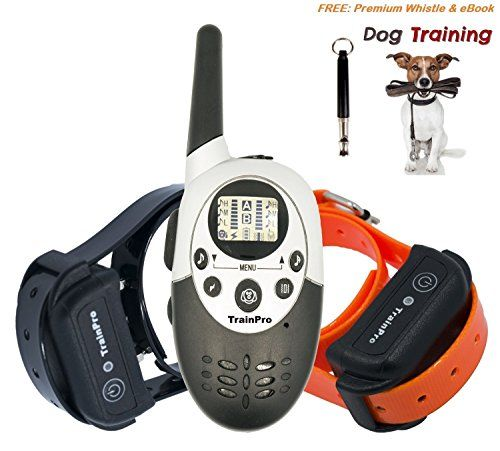 TrainPro Exec Dual 1100 Yard Rechargeable Remote Control Waterproof Dog Training Shock Bark Collar System. Free eBook comes by email >>> Details can be found by clicking on the image.