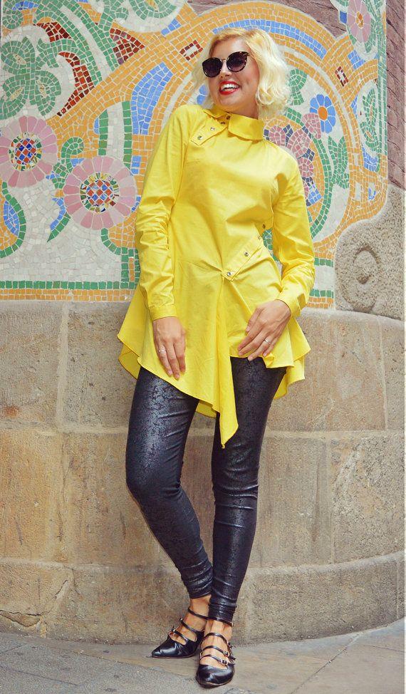 Extravagant Lemon Yellow Blouse / Pure Cotton Lemon Yellow Top https://www.etsy.com/listing/481463725/extravagant-lemon-yellow-blouse-pure?utm_campaign=crowdfire&utm_content=crowdfire&utm_medium=social&utm_source=pinterest