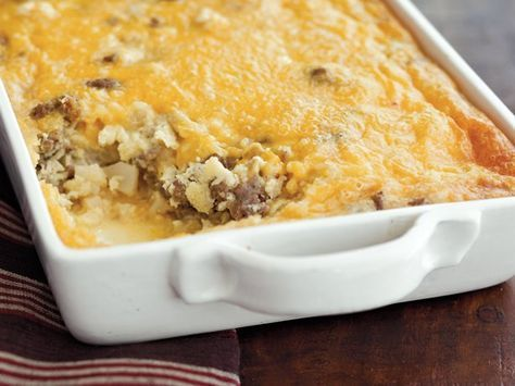 Looking for a tasty breakfast! Then try this casserole that's made with sausage, potatoes and Original Bisquick® mix! I use shredded hash browns like simply potatoes. Also I've jazzed this recipe many times by making it more tex-mex. I use a can of rotel in the mix and mexican stye shredded cheese. You know I love trying different variations!