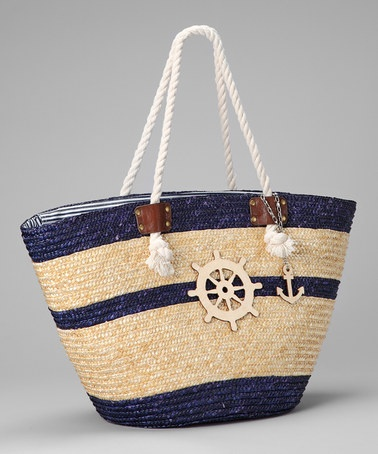 Take a look at this Navy Ship Tote by Straw Studios on #zulily today!