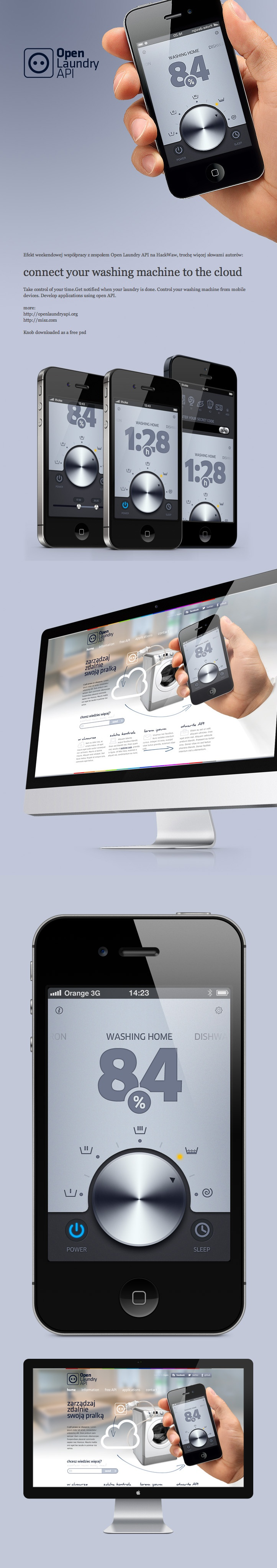 simple mac remote *** connect your washing machine to the cloud    Take control of your time.    Get notified when your laundry is done. Control your washing machine from mobile devices. Develop applications using open API. ***  by Michal Galubinski, via Behance