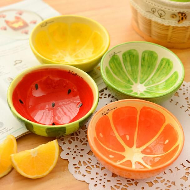 Chinese Soup #Bowls For Sale Lovely Fruit Design Ceramic Bowls Color Ice Cream Bowl Pudding Mold Containers Creative Kitchen Dinnerware Household Supplies Sh649 Clay Serving Bowls From Ls_crystal, $46.08| Dhgate.Com