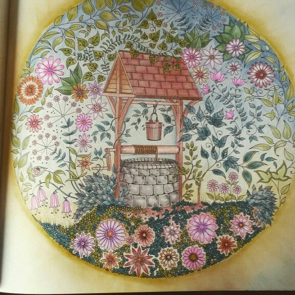 Johanna Basford The Secret Garden Wishing Well Coloring BookThe