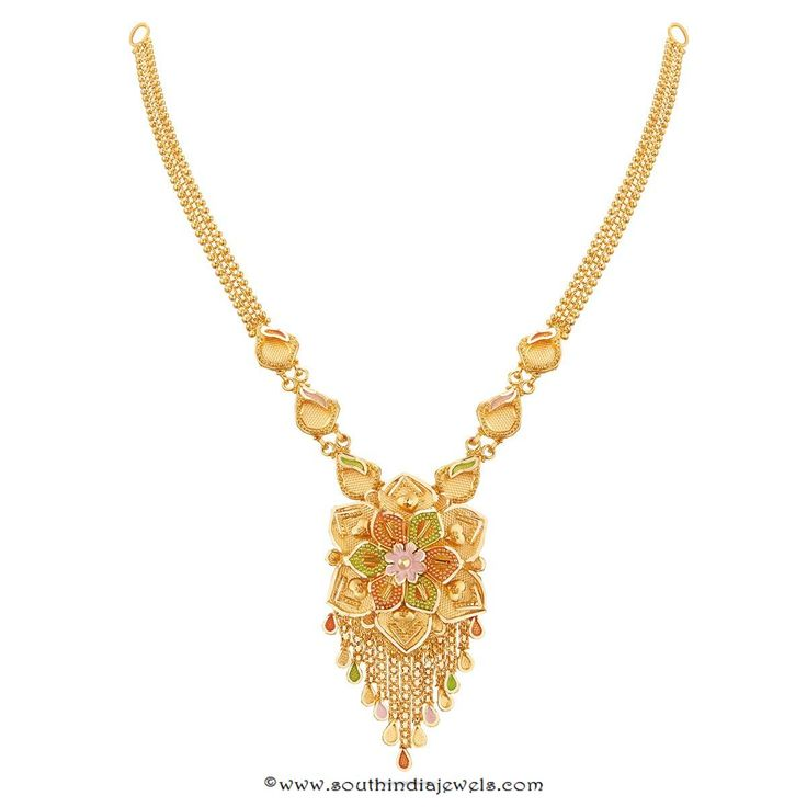 Gold Necklace Designs from Thangamayil Jewellery, Latest Gold Necklace Designs 2016