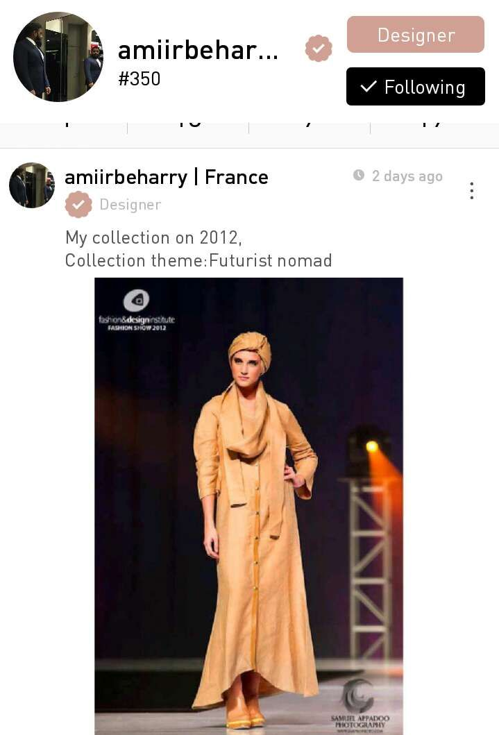 Amiir Beharry, a fashion designer from Mauritius based in France.