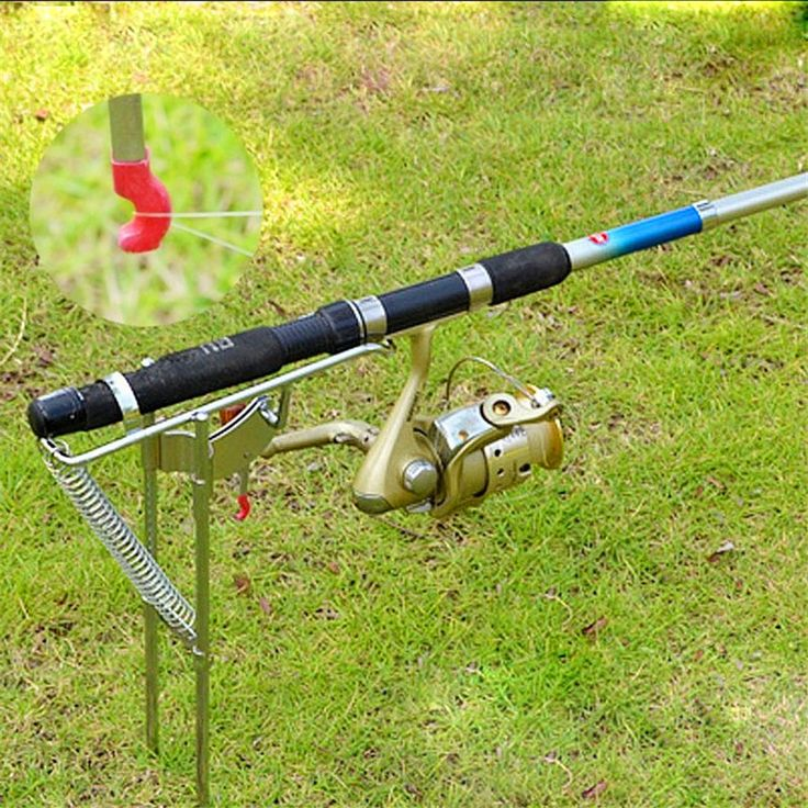 Automatic Stainless Steel Double Spring Tip-Up Hook Setter Practical Fishing Pole Bracket Rod Holder Stand Rack + Tracking No.