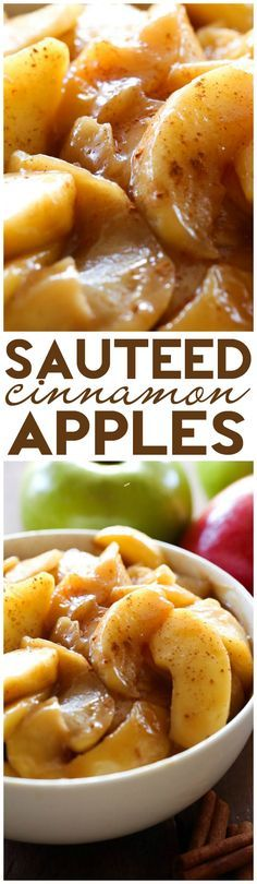 æbler suterede med søde krydderier kanel - Sautéed Cinnamon Apples... An easy and delicious side dish! These apples are cooked to perfection with incredible flavor!