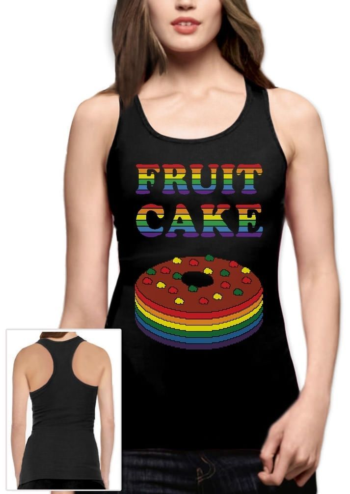 Fruit Cake Funny Ugly Christmas Sweater Holiday Racerback Tank Top Gift
