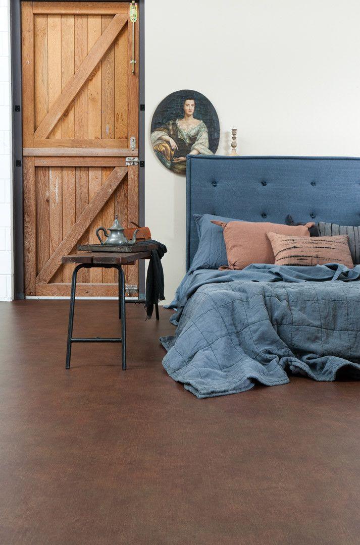 Novilon vtwonen - bruin - Raw Denim 7444 #interieur #vloer #Marmoleum