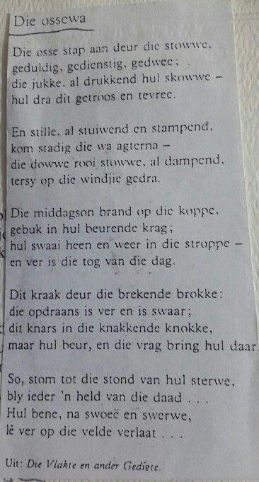 """""""Die Ossewa"""" ~ Uit: die Vlakte en ander gedigte"""