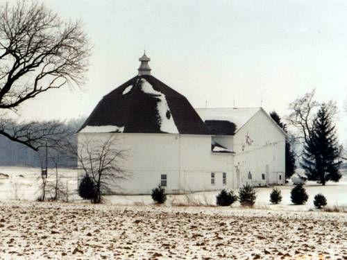 Octagon Barn  Darke County, Ohio;   SE of Gettysburg at 4937 Byreley Rd.