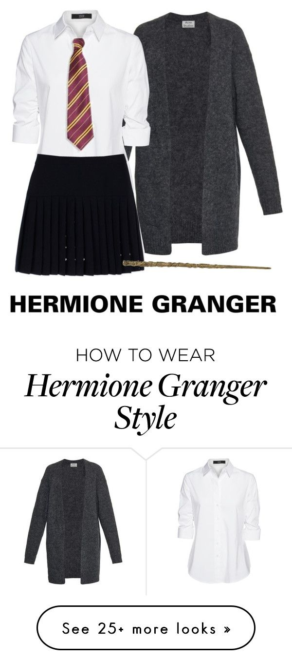 """Hermione Granger Costume"" by emiliajf on Polyvore featuring Acne Studios, Steffen Schraut and McQ by Alexander McQueen"
