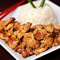 Teriyaki sesame chicken - definitely trying this tomorrow for dinner!! :)