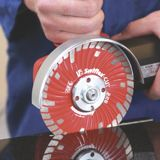 Dry cutting diamond blades for natural stone for manual angle grinders