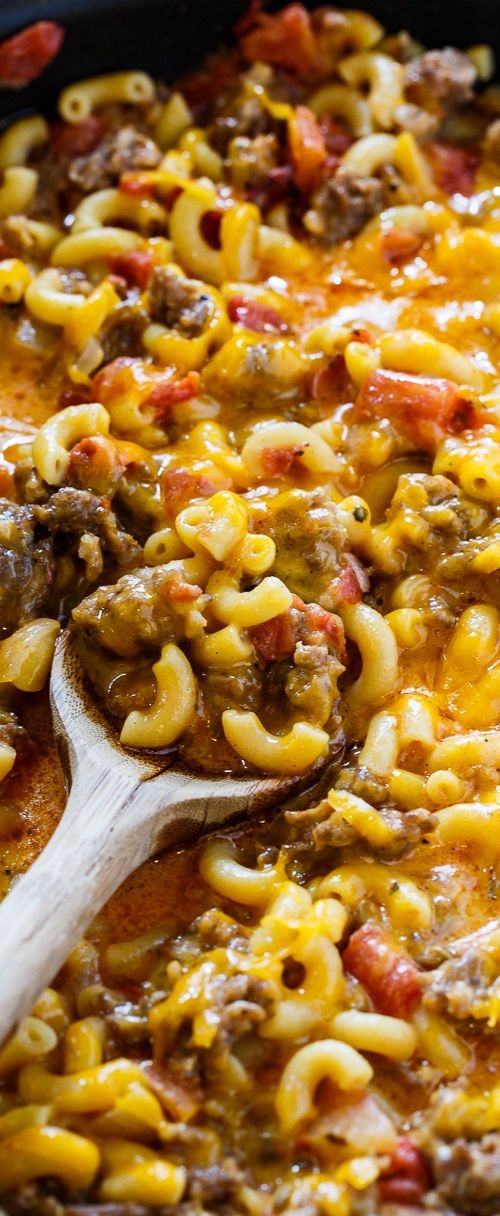 Sausage Mac and Cheese can be made in under 30 minutes. Only one pan needed!
