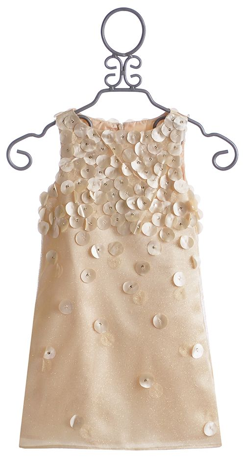 Biscotti Falling for Dots Gold Holiday Dress