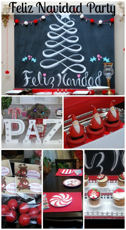 Feliz Navidad party ideas! See more party ideas at CatchMyParty.com. #feliznavidad