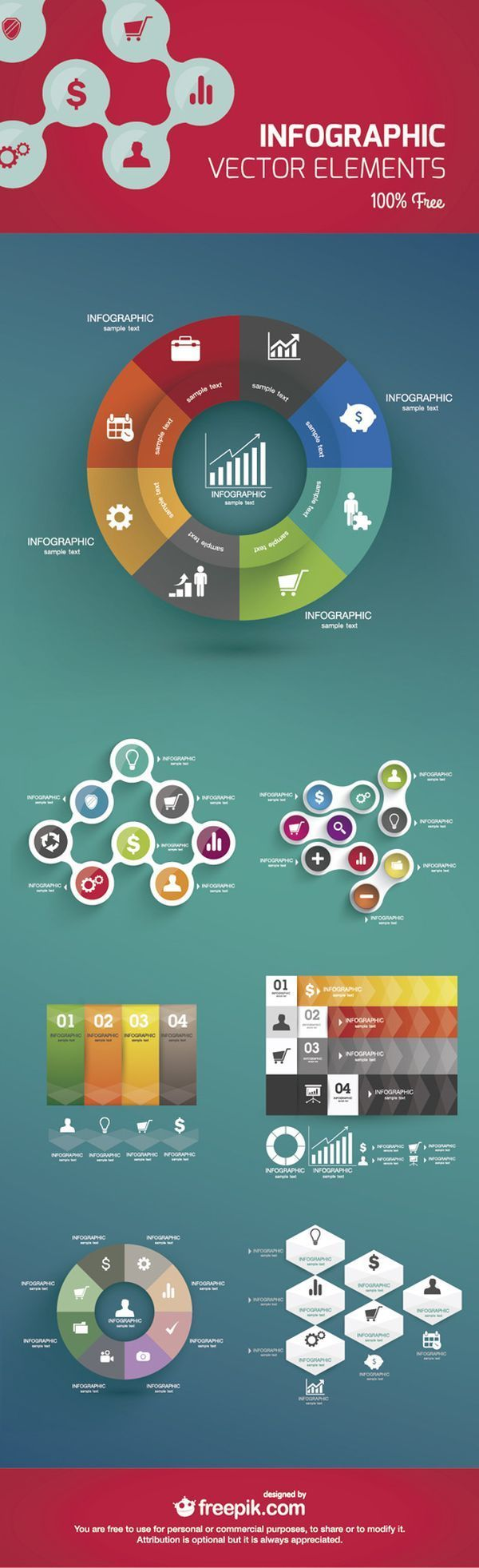 Infography free graphics design