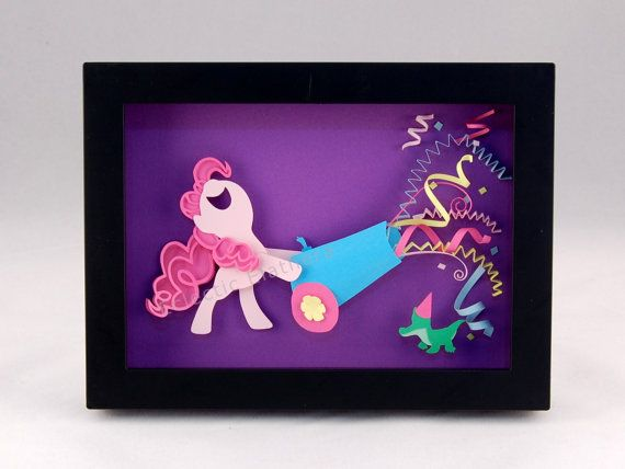 3-D MLP Pinkie Pie Party Cannon Framed 5x7 by EclecticElathera