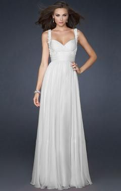 Another white,elegant formal dresses,