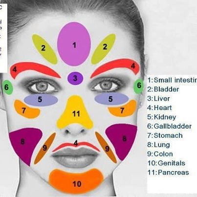 Reflexology Face Chart!