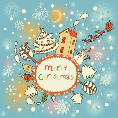 Vectores de postales de navidad gratis - recursos WEB & SEO