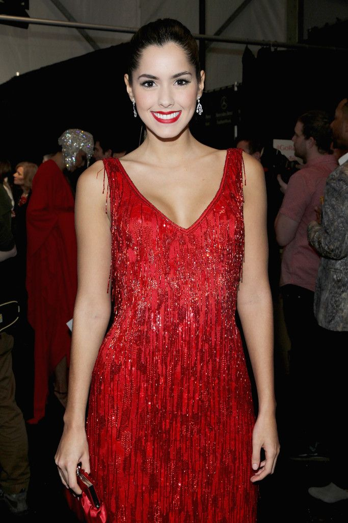 Paulina Vega Photos - American Heart Association Go Red For Women Red Dress Collection 2015 Presented By Macy's At Mercedes-Benz Fashion Week - Backstage - Zimbio