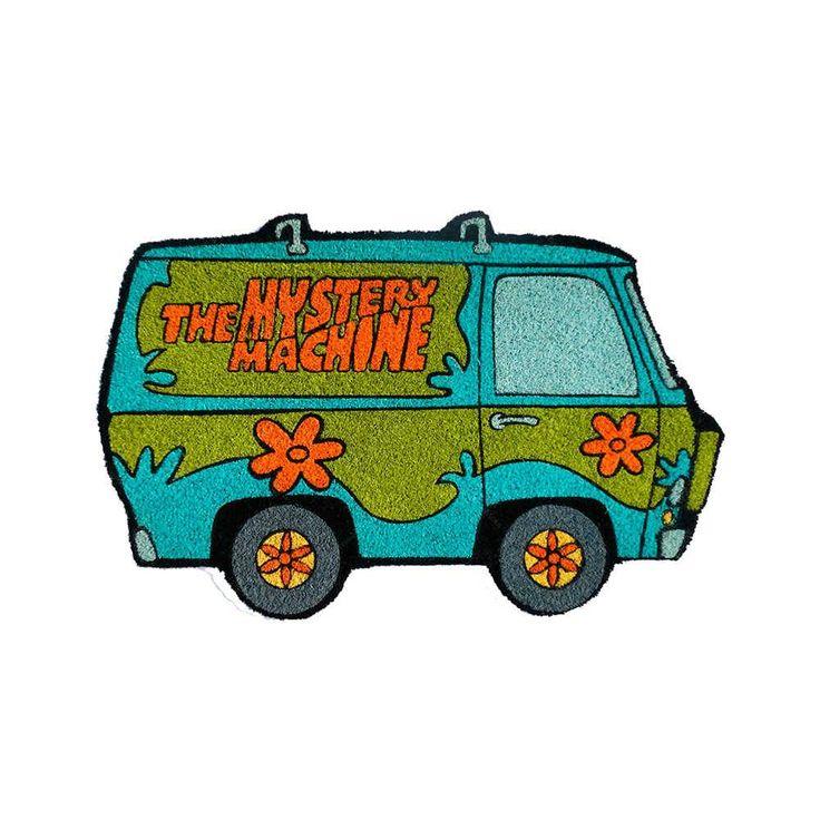 Capacho Hanna Barbera Scooby The Mistery Machine Colorido em Fibra de Coco e PVC - 75x45 cm