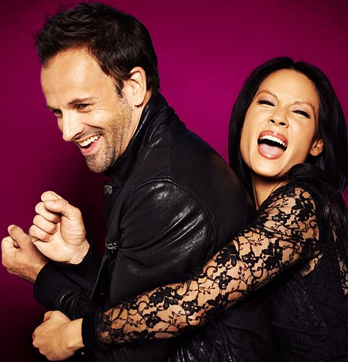 Johnny Lee Miller and Lucy Liu - Elementary. Way too much hotness for one programme.
