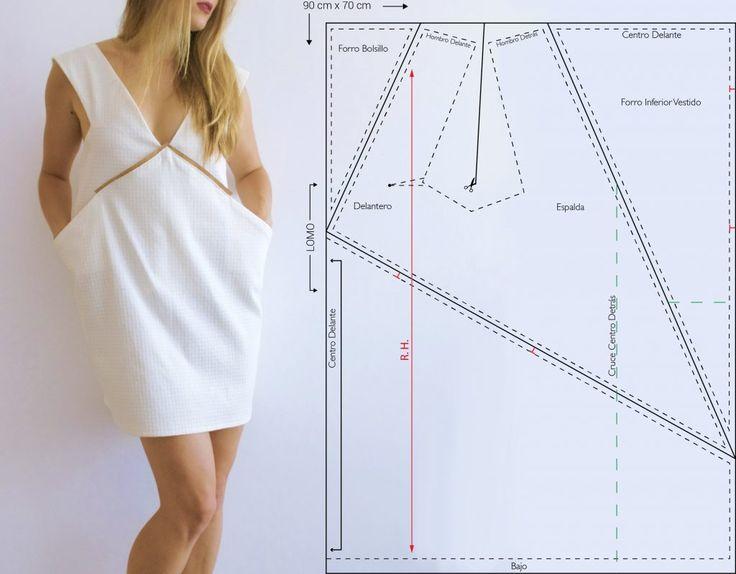 Diseño, patrón y confección de un vestido cero residuos (Zero Waste). http://www.nastasianash.com/diseno-patron-vestido-cero-residuos/