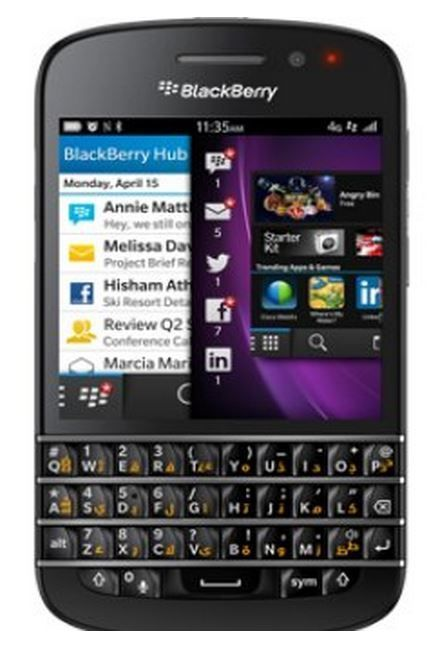Blackberry Q10 SQN100-3 - English/Arabic Keypad - Black/White #BlackBerry