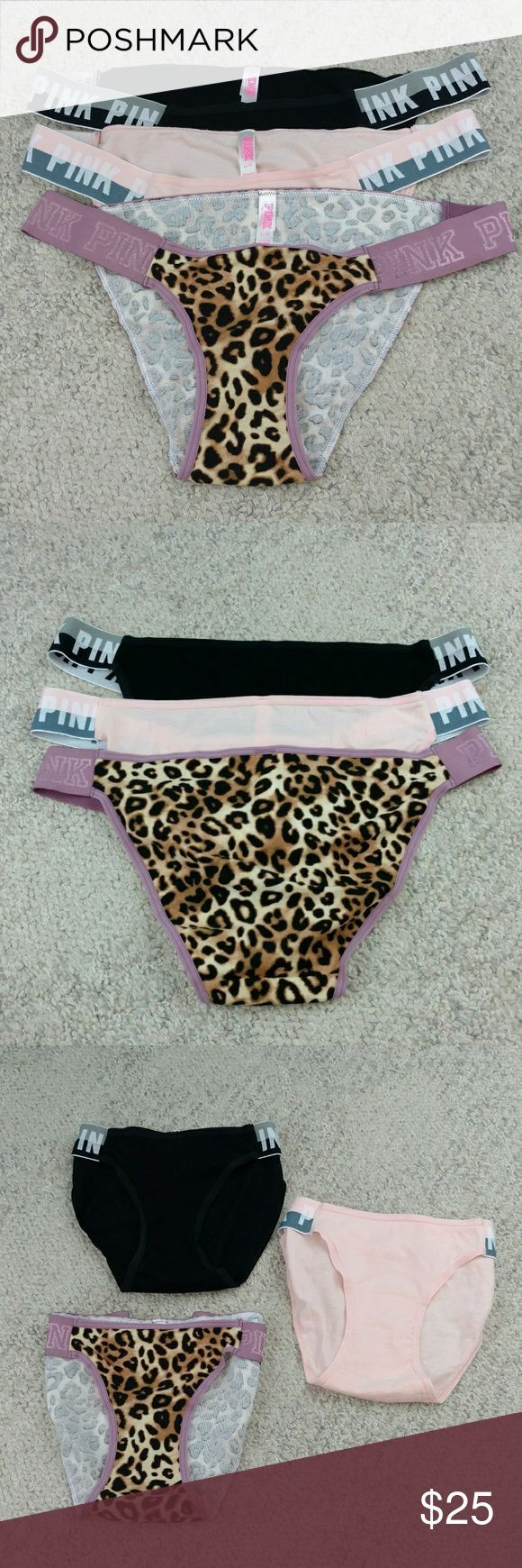 *NWOT*Pink Victoria Secret lot of 3 underwear Never been used. I bought these to…