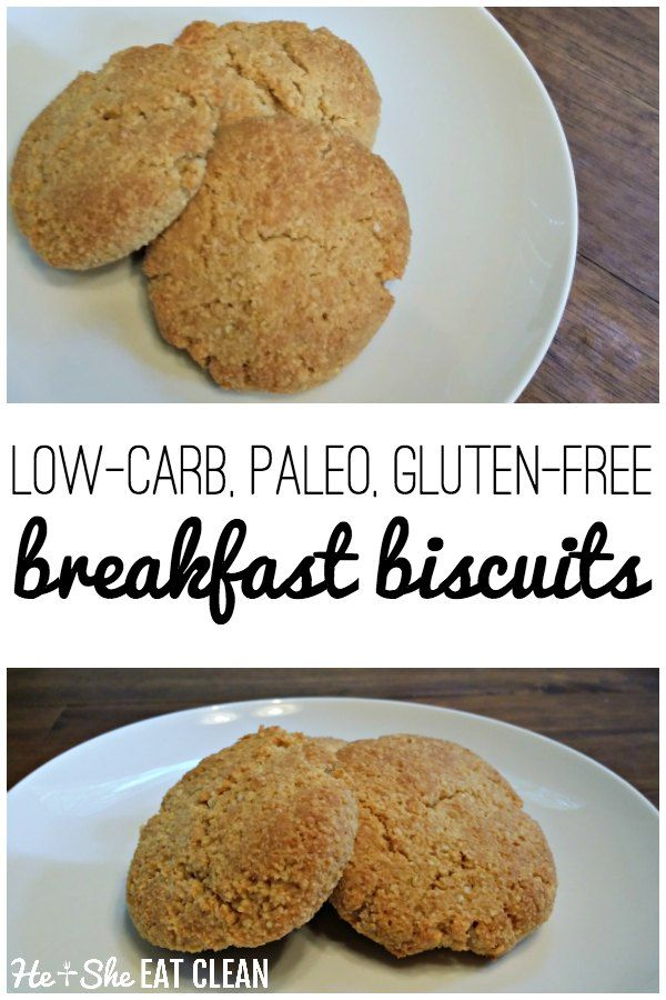 Gluten Free, Low Carb, Paleo Breakfast Biscuits that are easy to make and the family will love! Grab this comfort food recipe! #breakfast #biscuits #healthy #eatclean #paleo #cleaneating #glutenfree #heandsheeatclean #comfortfood