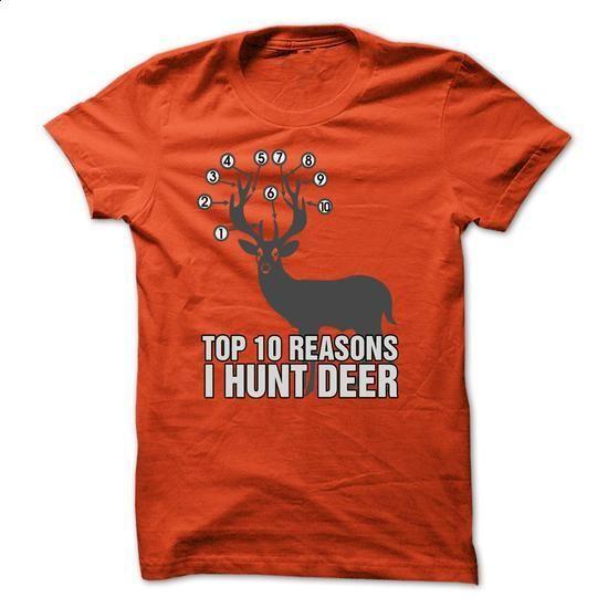 Reasons to Love Deer Hunting - #shirt maker #plain t shirts. CHECK PRICE => https://www.sunfrog.com/Hunting/Reasons-to-Love-Deer-Hunting.html?60505 http://riflescopescenter.com