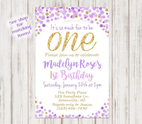 purple and gold birthday party