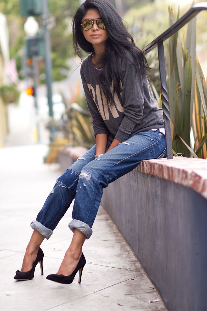 200 best images about Boyfriend jeans & ankle boots on Pinterest ...