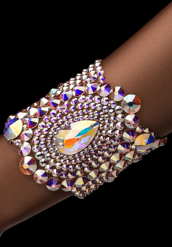 Bettina Rhinestone Bracelet HJ307 CAB | Dancesport Fashion @ DanceShopper.com