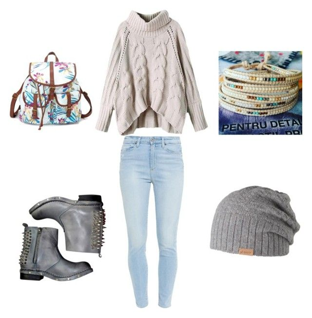 """""""Untitled #17"""" by adriana-elena-pusco on Polyvore featuring Paige Denim, Jeffrey Campbell, Barts and Charlotte Russe"""