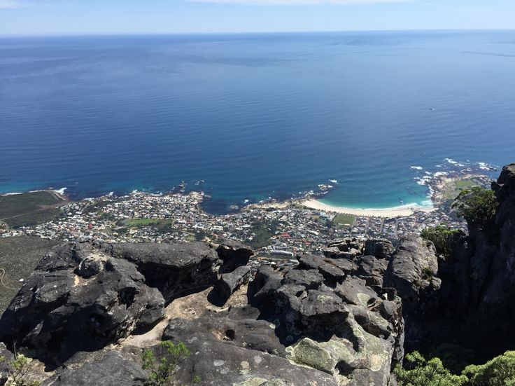 Overlooking Clifton Beach and Camps Bay from the Table Mountain. So beautiful