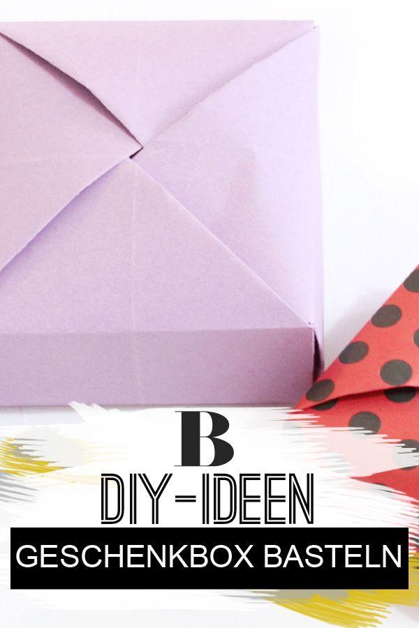082e3b15777b9f Anleitung  Geschenkbox basteln - so geht s. Ihr wollt eine Geschenkbox  basteln