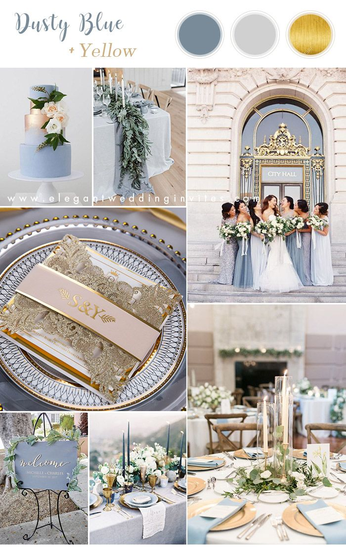 22++ Dusty blue and gold wedding theme inspirations